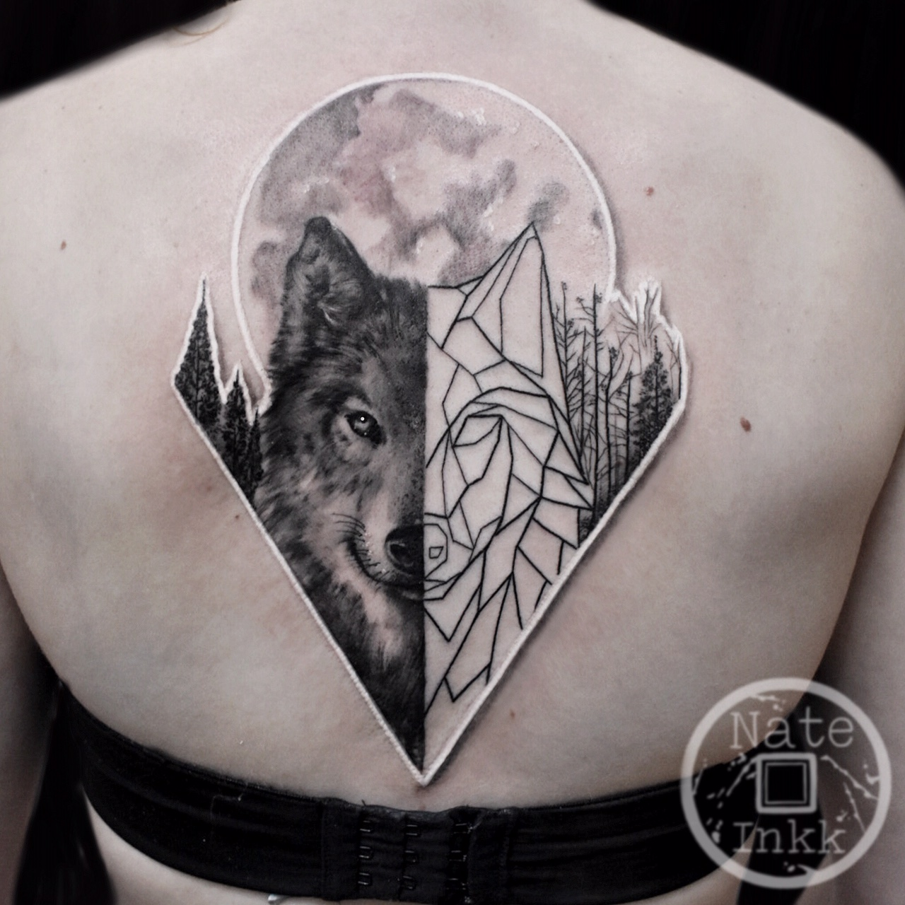 Geometric Wolf Tattoo The Tattoo Movement