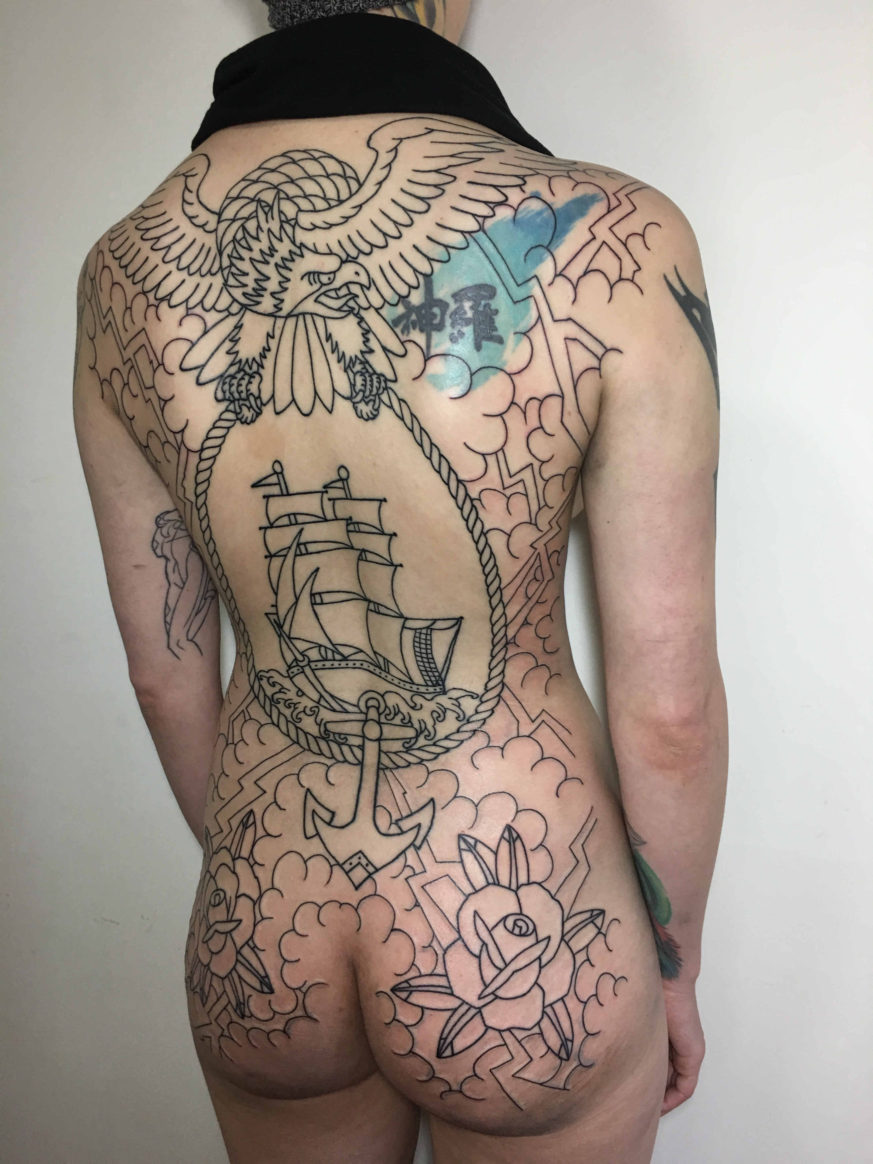 American Traditional Back Tattoo The Tattoo Movement